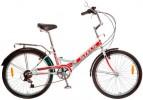 Велосипед 24' складной STELS PILOT-750 белый/красный, 6ск.