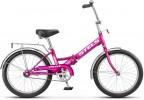 Велосипед 20' складной STELS PILOT-310 лиловый, 1 ск., 13'