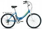 Велосипед 24' складной FORWARD VALENCIA 2.0 синий, 6 ск., 16' RBKD7YF46002