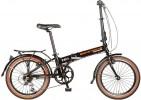 Велосипед NOVATRACK 20' суперскладной, рама алюминий TG-20 V-brake, черный, 6 ск. 20 FATG 6 SV.BK 7