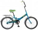 Велосипед NOVATRACK 20' складной TG20 синий 20 FTG 201. BL 7