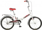Велосипед NOVATRACK 20' складной TG30 тормоз V-brake, белый 20 FTG 301V. WT 7