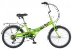 Велосипед NOVATRACK 20' складной FS30 тормоз V-brake, салатовый, 6 ск. 20 FFS 306PV.GN 8