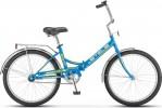 Велосипед 24' складной STELS PILOT-710 голубой/желтый 16'