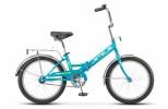 Велосипед 20' складной STELS PILOT-310 бирюзовый/зеленый, 1 ск., 13'