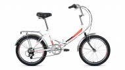 Велосипед 20' складной FORWARD ARSENAL 20 2.0 белый, 6 ск., 14' RBKW9YF06003 (19)