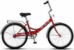 Велосипед 24' складной STELS PILOT-710 малиновый 16' LU077350