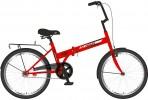 Велосипед 20' складной NOVATRACK TG 20 красный, тормоз V-brake, 20 NFTG 301 V.RD 20