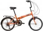 Велосипед 20' складной NOVATRACK TG 30 оранжевый, тормоз V-brake, 6 ск. 20 NFTG 306 PV.OR 20