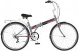 Велосипед 24' складной NOVATRACK TG серый, тормоз V-brake, 6 ск. 24 NFTG 6 SV.GR 20
