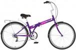 Велосипед 24' складной NOVATRACK TG фиолетовый, тормоз V-brake, 6 ск. 24 NFTG 6 SV.VL 20