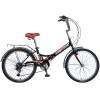 Велосипед 24' складной NOVATRACK TG черный, тормоз V-brake, 6 ск. 24 FTG 6 SV.BK 8-1