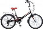 Велосипед 24' складной NOVATRACK TG чёрный, 6 ск. 24FTG6SV.BK20