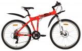 Велосипед 26' складной, рама алюминий FOXX ZING H2 красный, диск, 21 ск. 26AHD.ZINGH2.18RD8