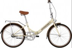 Велосипед 24' суперскладной NOVATRACK AURORA бежевый, 3 ск., Shimano NEXUS 24FAURORA3N.BE20