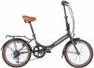 Велосипед 20' суперскладной NOVATRACK AURORA коричневый, 6 ск. 20 FAURORA 6S.BN 20