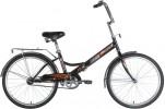 Велосипед 24' складной NOVATRACK TG черный 24FTG1.BK20