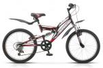 Велосипед 20' двухподвес STELS PILOT-260 красный, 6 ск.