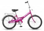 Велосипед 20' складной STELS PILOT-310 фиолетовый/голубой, 1 ск., 13'