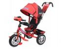 Велосипед 3х-колесный Formula-5 12'/10',своб. ход перед. колеса,тормоз,накл.спин.,сумка,красный FA5R