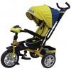 Велосипед 3х-колесный Formula-5 12'/10', свобод. ход перед. колеса,тормоз,накл.спин.,сумка,жел. FA5Y