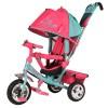 Велосипед 3х-колесный Beauty 10'/8', свобод. ход колес, тормоз, накл. спин., сумка B2MP