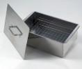 Коптильня Кедр плюс двухъярусная малая 420*270*175мм, нержавеющая сталь 0,8мм К2-0,8Н