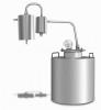 Самогонный аппарат-дистиллятор проточный Добрый жар Домашний 12л с сухопарником