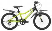 Велосипед MAVERICK 20' хардтейл, рама алюминий, D 37 AL зеленый-черный матов., 6 ск.