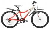Велосипед MAVERICK 24' хардтейл, рама женская, алюминий, D 42 AL диск, красный-белый, 6 ск. (19-З)