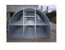 Дополнительная секция к теплице алюминиевой МЕГАДАЧА-Вечная 2 м