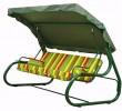 Садовые качели Деловой Стиль Орбита 3-х местные, ф 60 мм, зеленый, тк. Бязь, до 270 кг