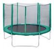 Батут Trampoline 10 диаметр 3 м, с внешней сеткой, зеленый